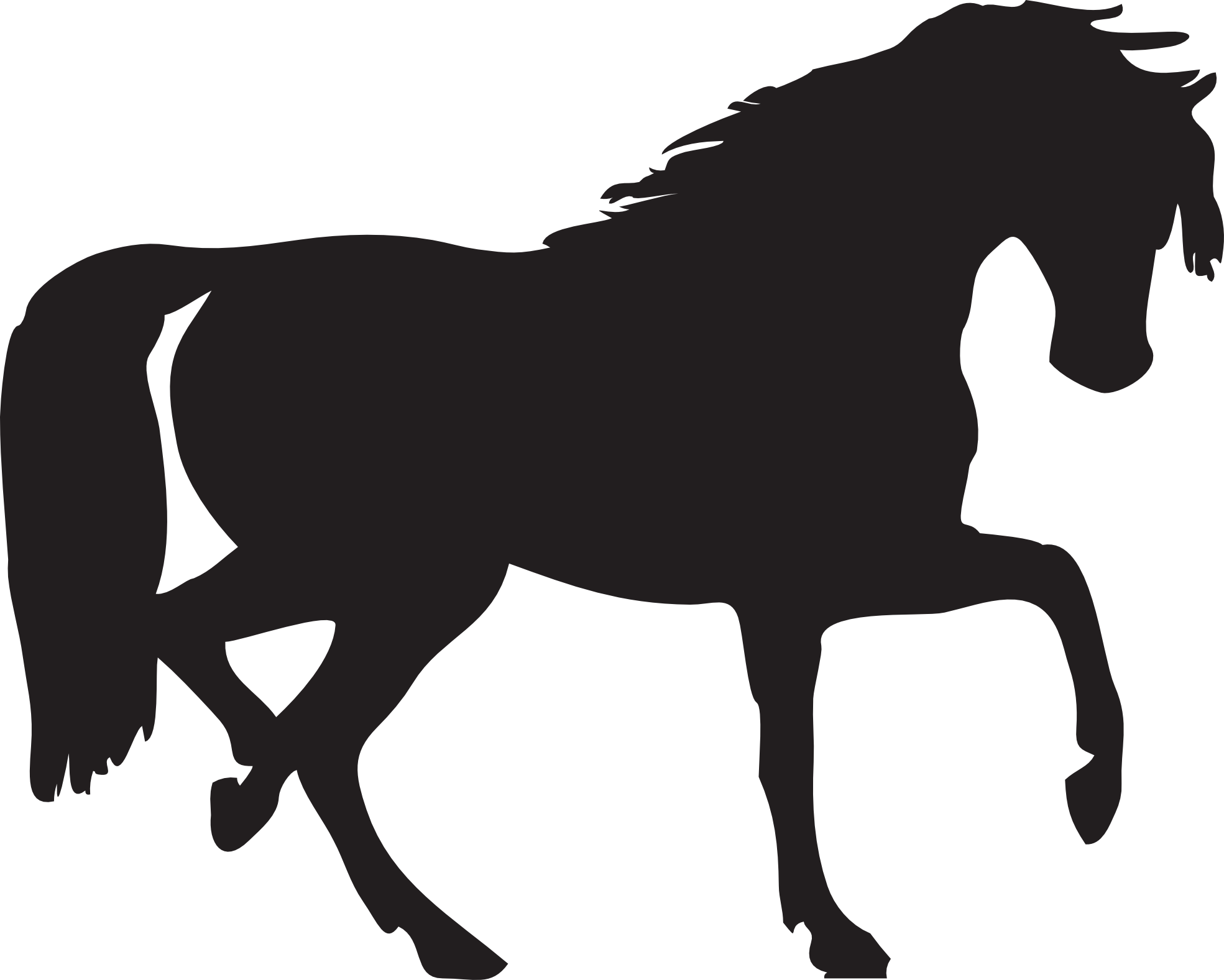 Horse heart clipart clipart royalty free library Horse Silhouette Two | Isolated Stock Photo by noBACKS.com clipart royalty free library