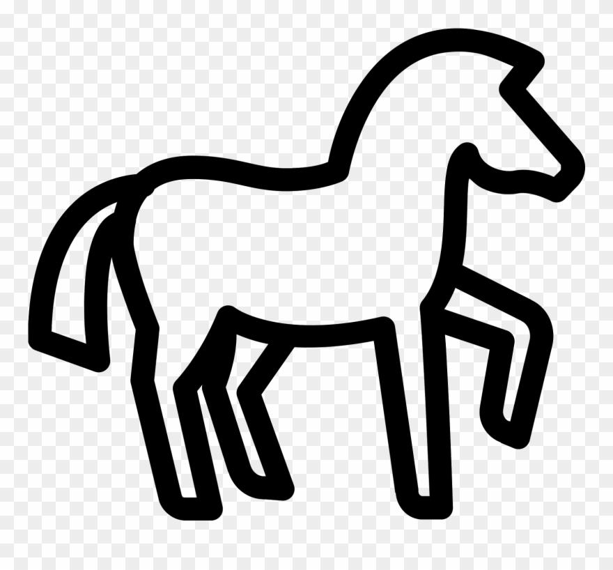 Horse icon clipart image transparent stock This Icon Represents A Horse - Horse Icon Clipart (#866601 ... image transparent stock