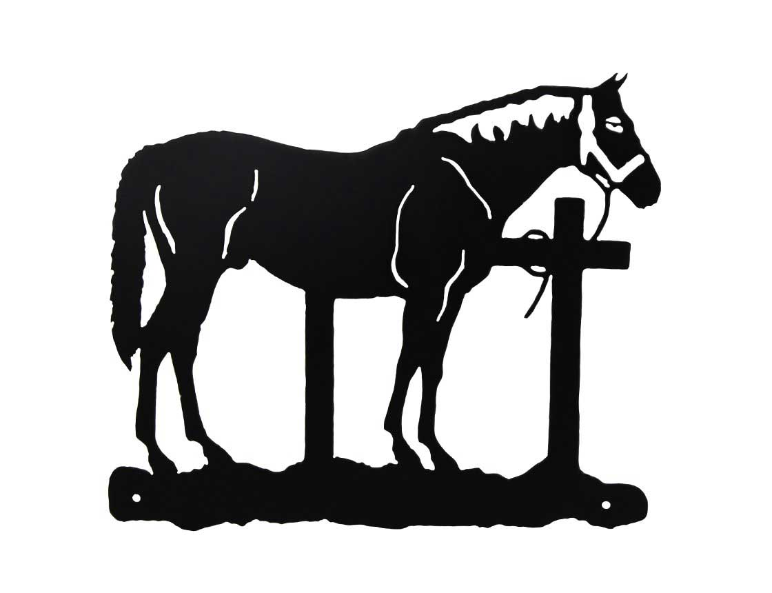 Horse next to a hitching post clipart picture free download SMW535 Custom Metal Schoolhouse Wall Art - Sunriver Metal Works picture free download