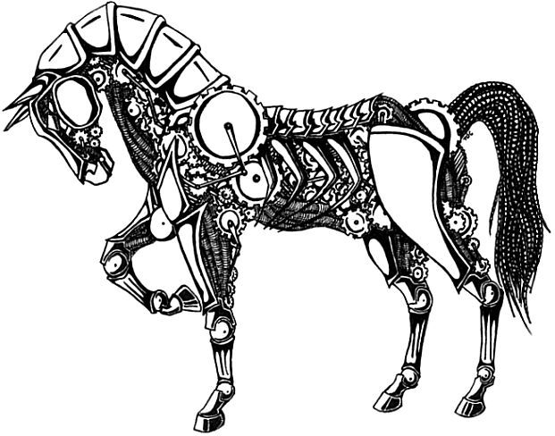Horse next to a hitching post clipart svg library stock The Hitching Post Dedicated to the Original Machine   Horses ... svg library stock