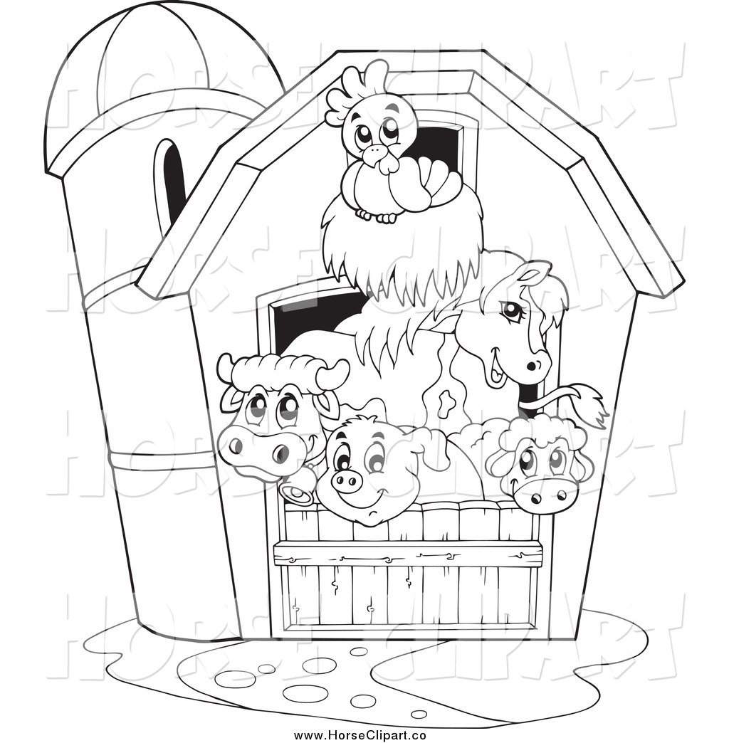 Horse stable clipart black and white image transparent stock Horse Stable Clipart Black And White image transparent stock