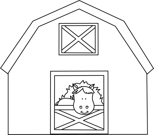 Horse stable clipart black and white picture royalty free Free Horse Barn Cliparts, Download Free Clip Art, Free Clip ... picture royalty free