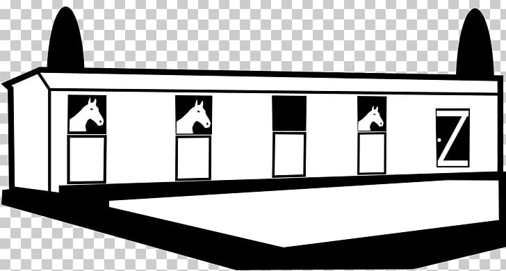 Horse stable clipart black and white graphic black and white Horse Stable Barn PNG, Clipart, Angle, Area, Barn, Black ... graphic black and white