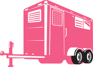 Horse trailer clipart svg freeuse stock Horse Trailer Clipart | Free Images at Clker.com - vector ... svg freeuse stock