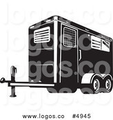Horse trailer clipart vector download Royalty Free Horse Trailer Stock Logo Designs vector download