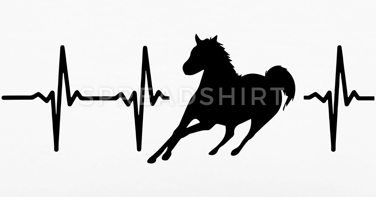 Horses are my heart beat clipart svg royalty free stock MY HEART BEATS FOR HORSES Women\'s Long Tank Top | Spreadshirt svg royalty free stock