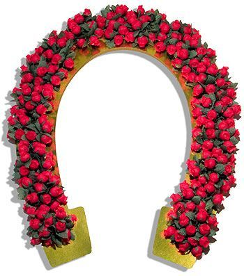 Horseshoe with roses ky derby bow tie clipart jpg free library Garland of Roses Horseshoe - Caufields.com   Kentucky Derby ... jpg free library