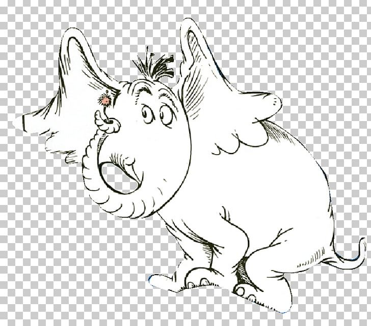 Horton hears a who clipart black and white svg black and white Horton Hears A Who! Drawing Elephant PNG, Clipart, Ani ... svg black and white
