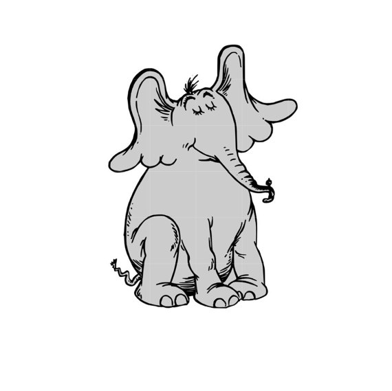 Horton hears a who clipart black and white vector transparent Free Horton Cliparts, Download Free Clip Art, Free Clip Art ... vector transparent