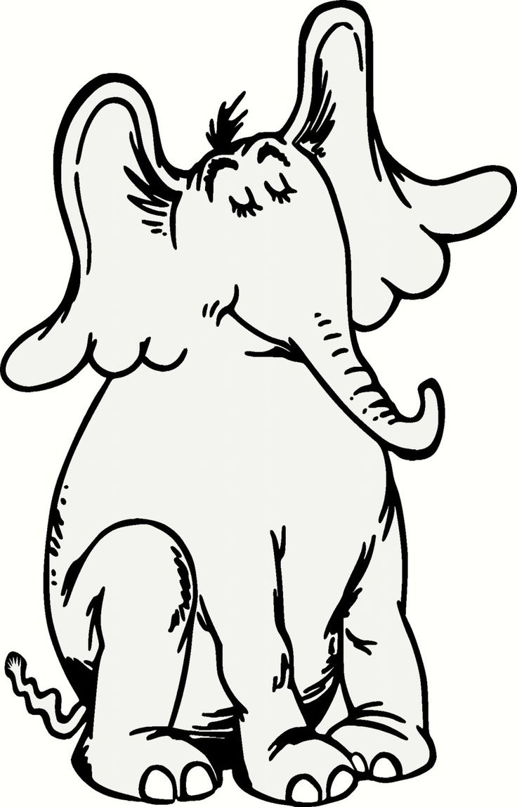 Horton hears a who clipart black and white graphic library library Horton Hears A Who Drawing   Free download best Horton Hears ... graphic library library