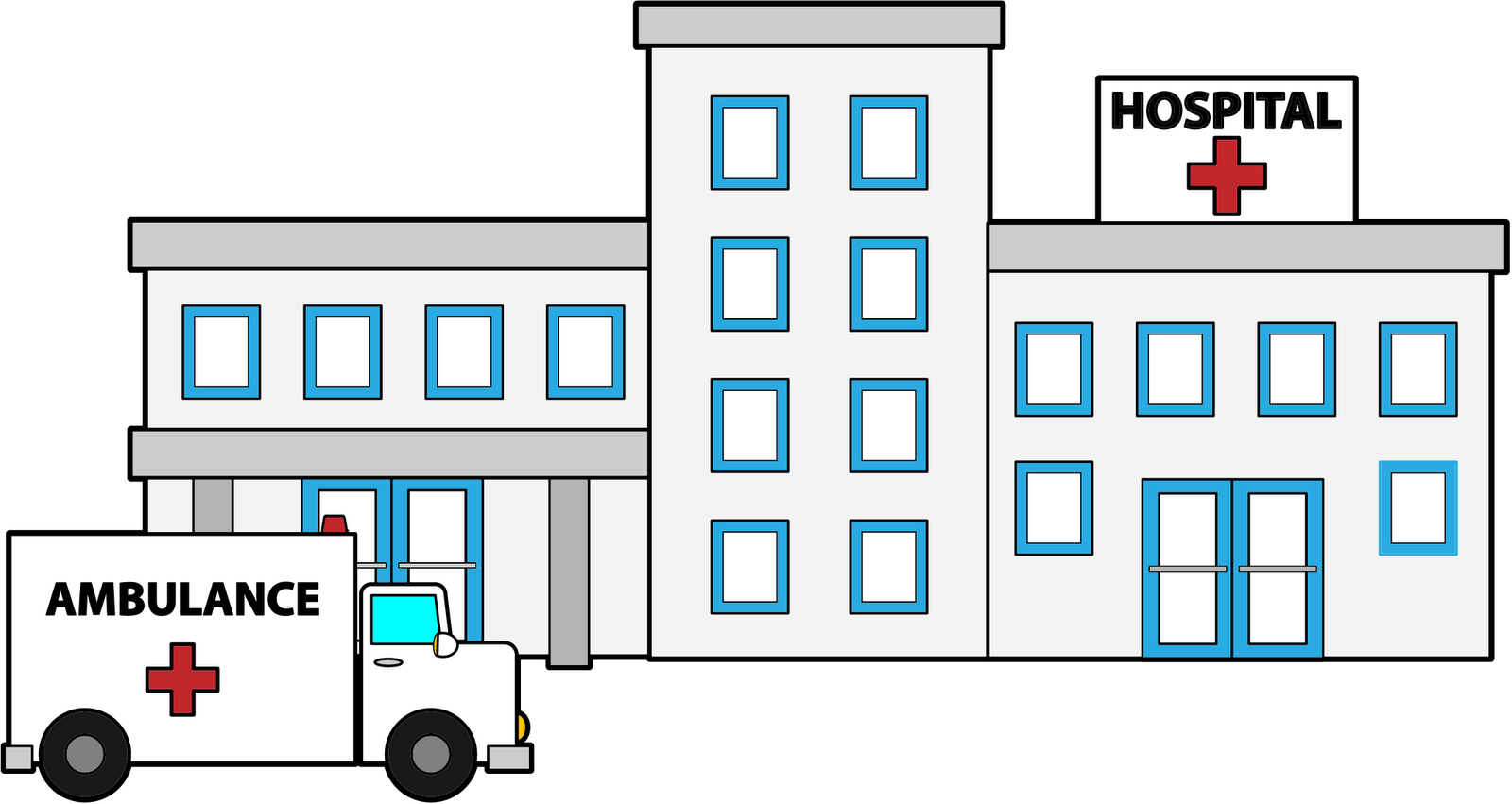 Hospital building clipart vector royalty free Hospital building clip art clipart images gallery for free ... vector royalty free