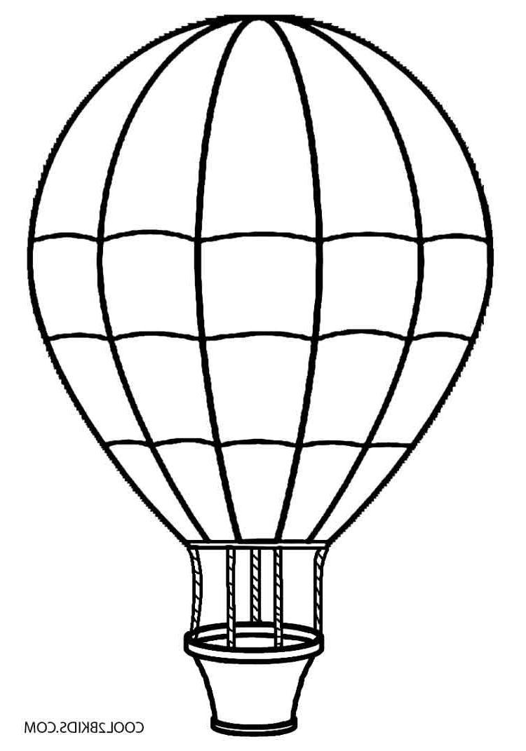 Hot air balloon clipart black and white picture library library Best Hot Air Balloon Clipart Black And White Drawing with ... picture library library