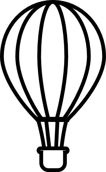 Hot air balloon clipart black and white clip royalty free Hot Air Balloon Clipart Black And White   Clipart Panda ... clip royalty free