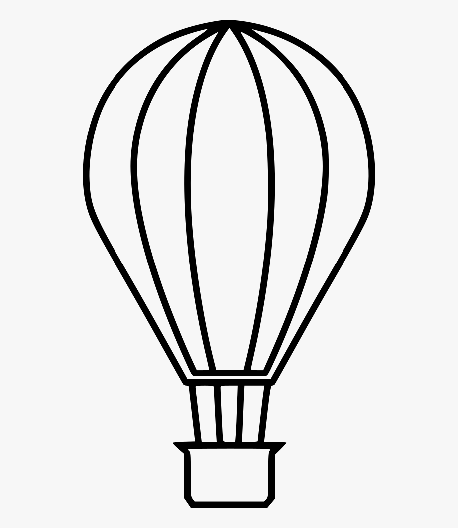 Hot air balloon clipart outline picture download Hot Air Balloon Outline Png Clipart Download - Hot Air ... picture download