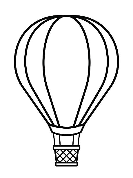 Hot air balloon clipart outline vector download Hot Air Balloon Basket Drawing at PaintingValley.com ... vector download