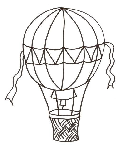 Hot air balloon clipart outline graphic download Hot air balloon black and white hot air balloon clipart ... graphic download