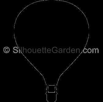 Hot air balloon silhouette clipart clip transparent library Hot Air Balloon Silhouette clip transparent library