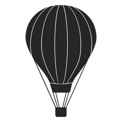 Hot air balloon silhouette clipart vector freeuse download Striped hot air balloon silhouette - Transparent PNG & SVG ... vector freeuse download