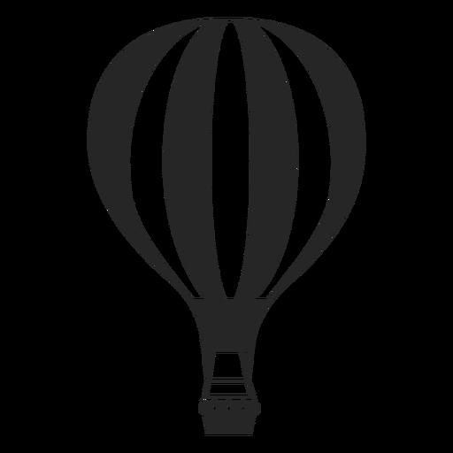 Hot air balloon silhouette clipart png transparent stock Line patterned hot air balloon silhouette - Transparent PNG ... png transparent stock