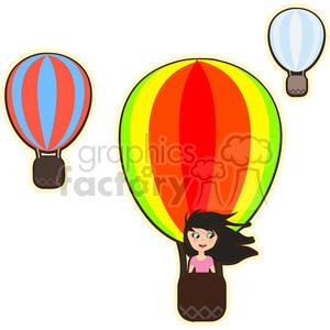 Hot cartoon girl clipart graphic royalty free library Hot air balloon girl cartoon character vector image clipart. Royalty-free  clipart # 394907 graphic royalty free library