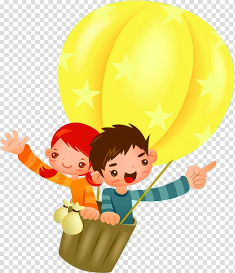 Hot cartoon girl clipart jpg library library Cartoon Child Illustration, Hot air balloon boys and girls ... jpg library library