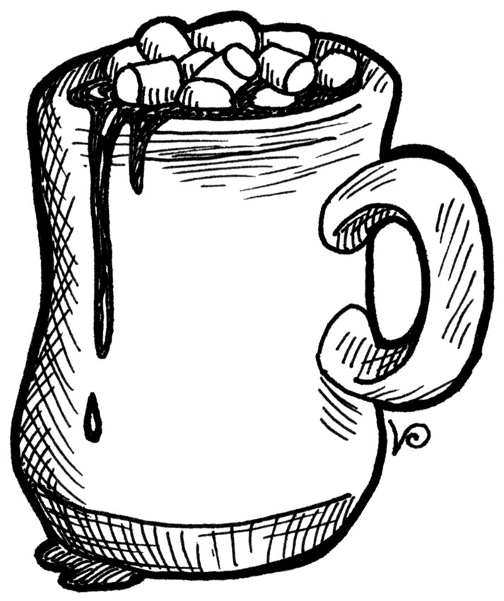 Hot chocolate clipart black and white picture royalty free download Hot chocolate clipart black and white 5 » Clipart Portal picture royalty free download