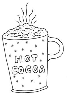 Hot chocolate clipart black and white picture library Free Hot Cocoa Clip Art Black And White, Download Free Clip ... picture library