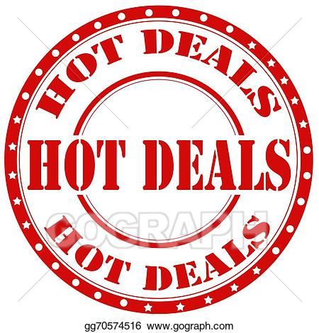 Hot deals clipart graphic royalty free Vector Clipart - Hot deals-stamp. Vector Illustration ... graphic royalty free