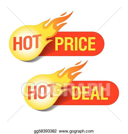 Hot deals clipart jpg download Vector Art - Hot price and hot deal tags. EPS clipart ... jpg download
