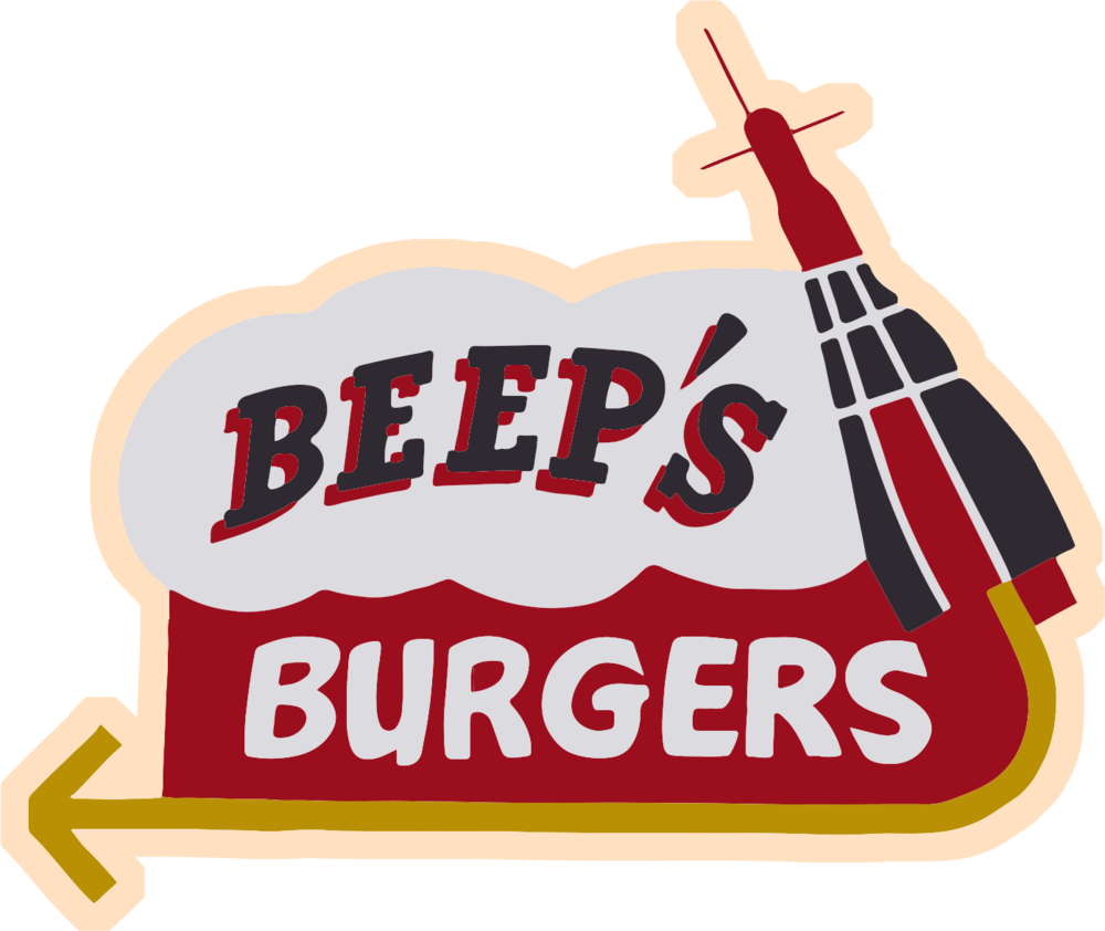Hot dog and chips clipart png black and white download Beep's Burgers png black and white download