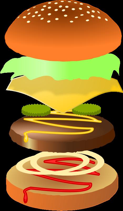 Hot dog and hamburger clipart freeuse library Hamburger Clipart | Play Food Crochet Felt Foam Paper More ... freeuse library
