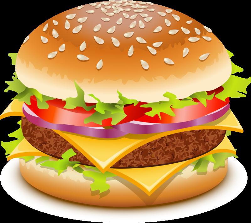 Hot dog and hamburger clipart svg black and white Hamburger Clipart & Hamburger Clip Art Images #743 - OnClipart svg black and white