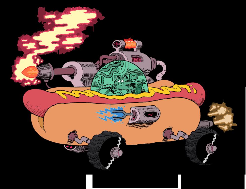 Hot dog character clipart graphic freeuse HotDog Car by mrdynamite on DeviantArt graphic freeuse