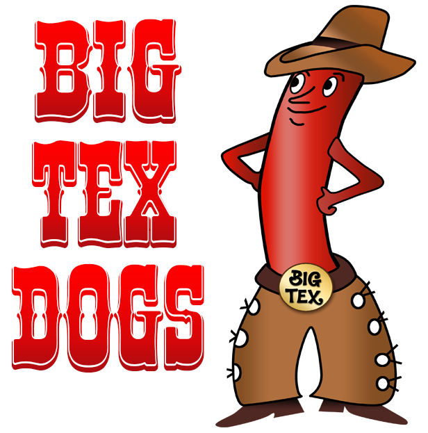 Hot dog chips clipart clipart download Big Tex Dogs   Best Hot Dog Stand in the USA!   MENU clipart download