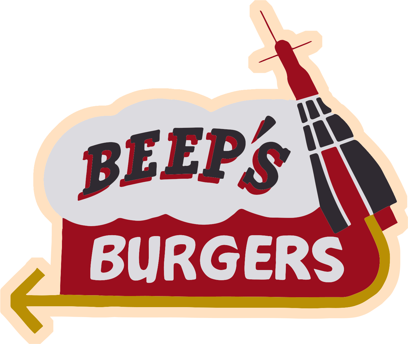 Hot dog chips soda clipart graphic download Beep's Burgers graphic download