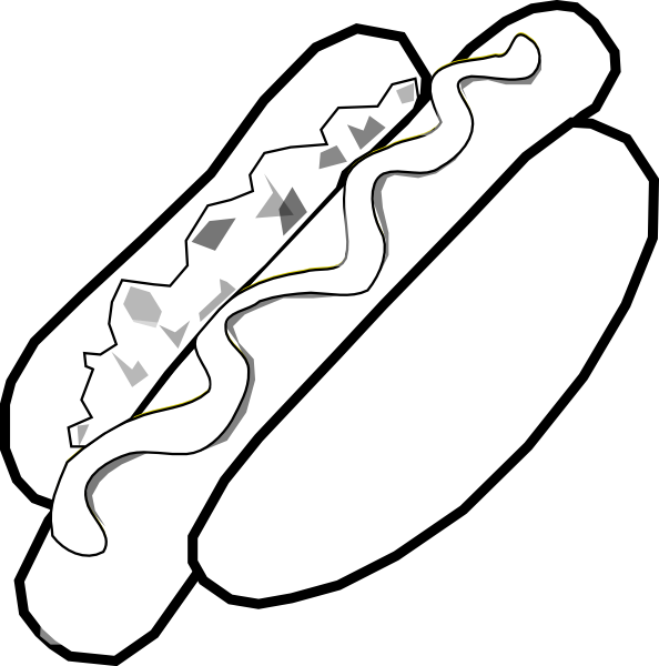 Hot dog clipart black and white png royalty free stock B&w Jumbo Hot Dog Clip Art at Clker.com - vector clip art online ... png royalty free stock