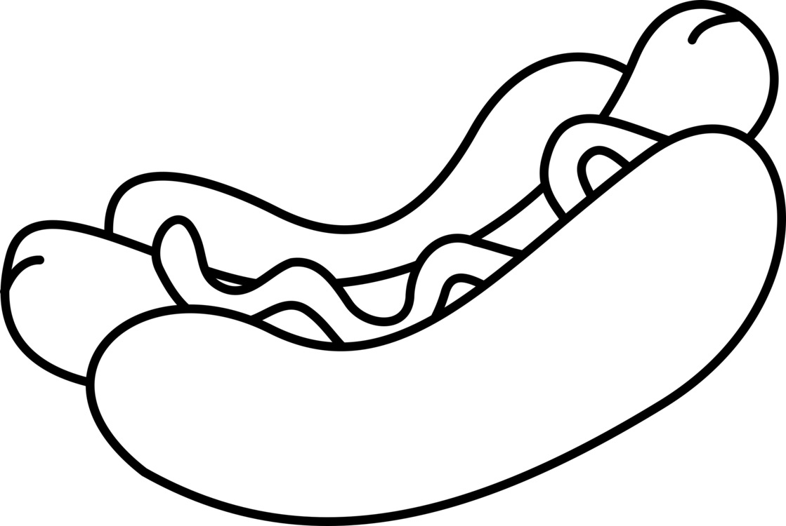 Hot dog clipart black and white png clip art library Hot Dog Hamburger White Hot French Fries - Hotdog Black And ... clip art library