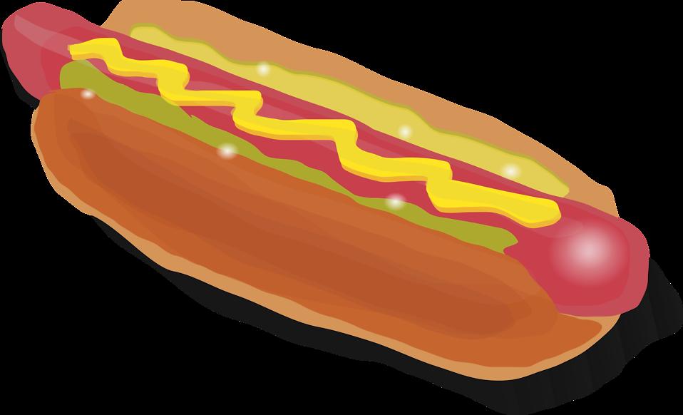 Hot dog clipart transparent image stock Hotdog | Free Stock Photo | Illustration of a hotdog with mustard ... image stock