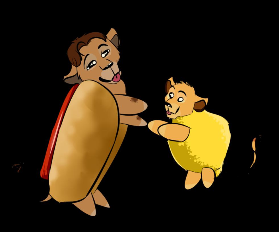 Hot dog combo clipart png black and white download Hotdog Hodari and Lemon Child!!! by Sarn-Elyren on DeviantArt png black and white download