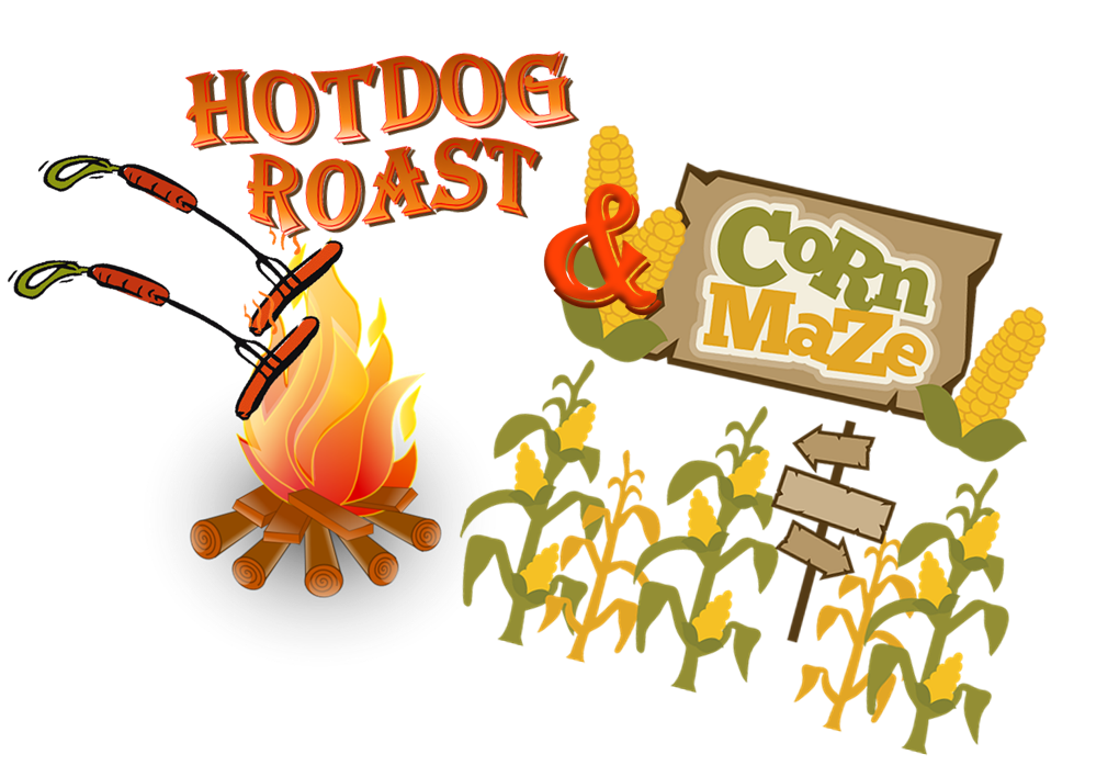 Roasting hot dog clipart image Youth Hotdog Roast & Stickley Farm Corn Maze image