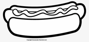 Hot dog cookout clipart black and white svg library Hot Dog PNG Images | PNG Cliparts Free Download on SeekPNG ... svg library
