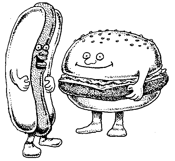 Hot dog cookout clipart black and white clip royalty free library Free Hamburger Hotdog Cliparts, Download Free Clip Art, Free ... clip royalty free library