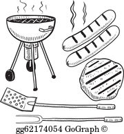 Hot dog cookout clipart black and white vector royalty free download Hot Dog Clip Art - Royalty Free - GoGraph vector royalty free download