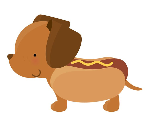 Hot dog dog clipart picture black and white library Running Hot Dog Clipart   Free Images at Clker.com - vector ... picture black and white library