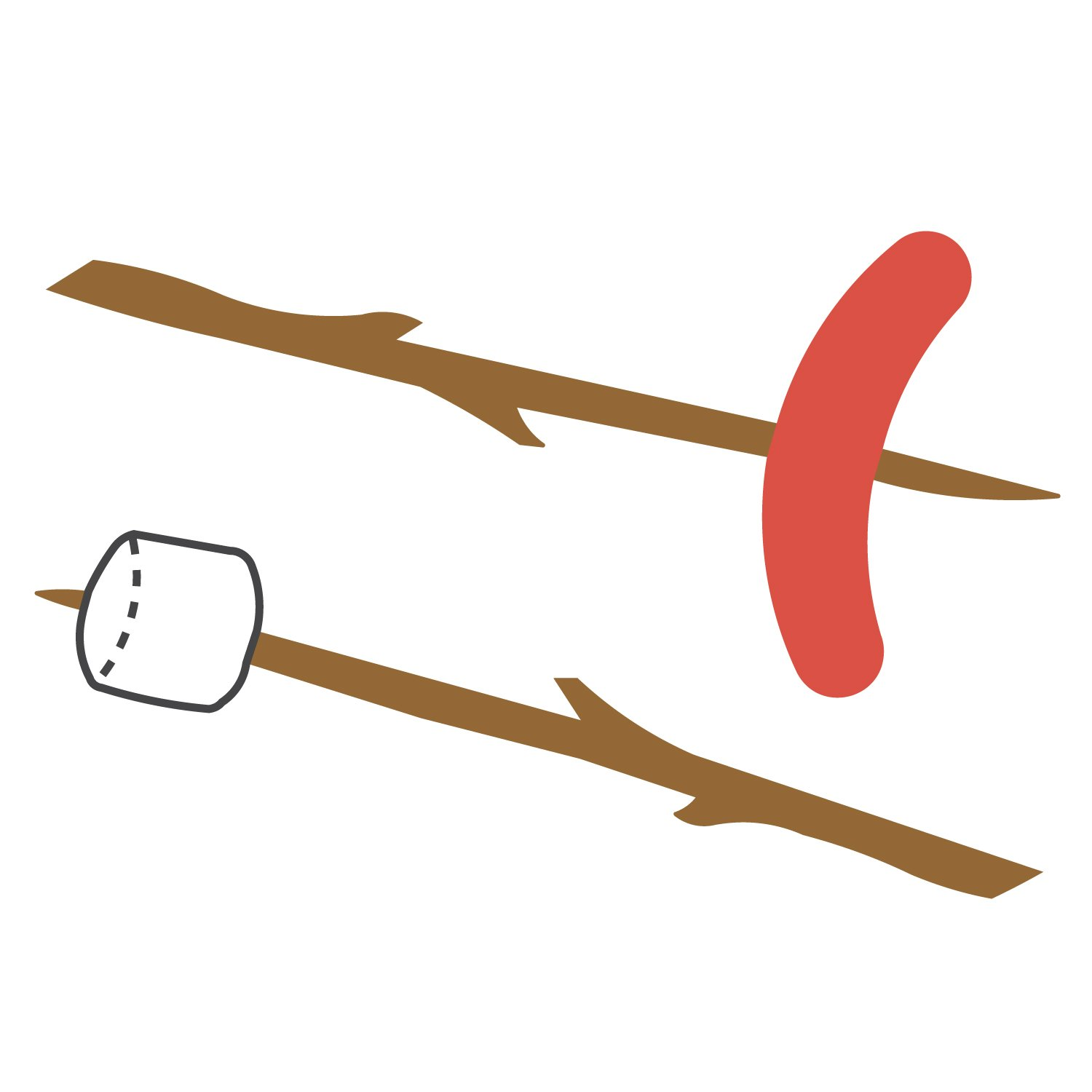 Hot dog on a stick clipart graphic royalty free stock Marshmallow/Hot Dog on Stick graphic royalty free stock