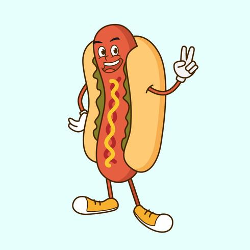 Hot dog wearing chef hat clipart png graphic library download Hot Dog Mascot - Download Free Vectors, Clipart Graphics ... graphic library download