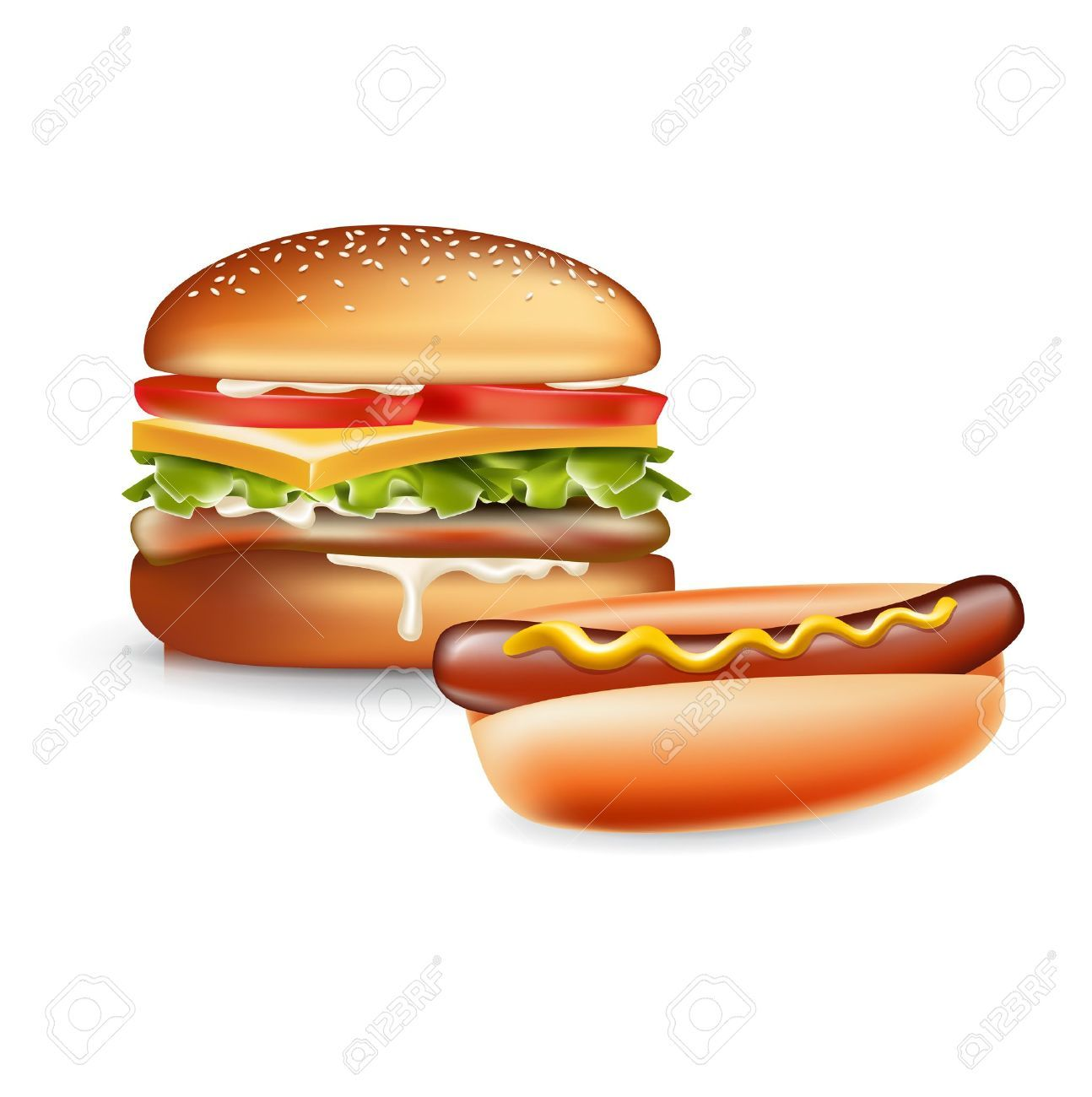 Hot dogs and hamburgers clipart banner free library Hotdogs and hamburgers clipart 6 » Clipart Portal banner free library