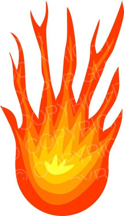 Hot free clipart clip art free stock Free ClipArt - Hot Ball of Flames - Fire Clip Art – Prawny ... clip art free stock