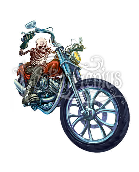 Hot motorcycle clipart banner freeuse stock Hot Rod Skeleton Motorcycle ClipArt banner freeuse stock