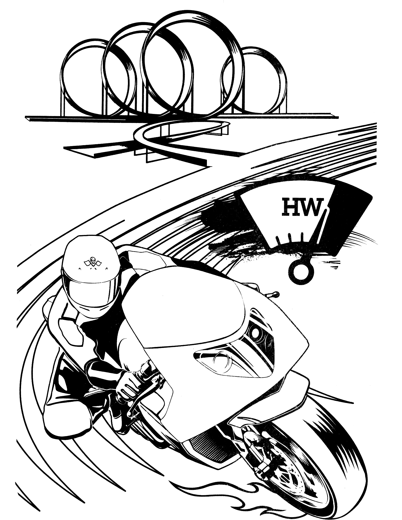Hot motorcycle clipart image royalty free hot wheels motorcycle coloring | Clipart Panda - Free ... image royalty free